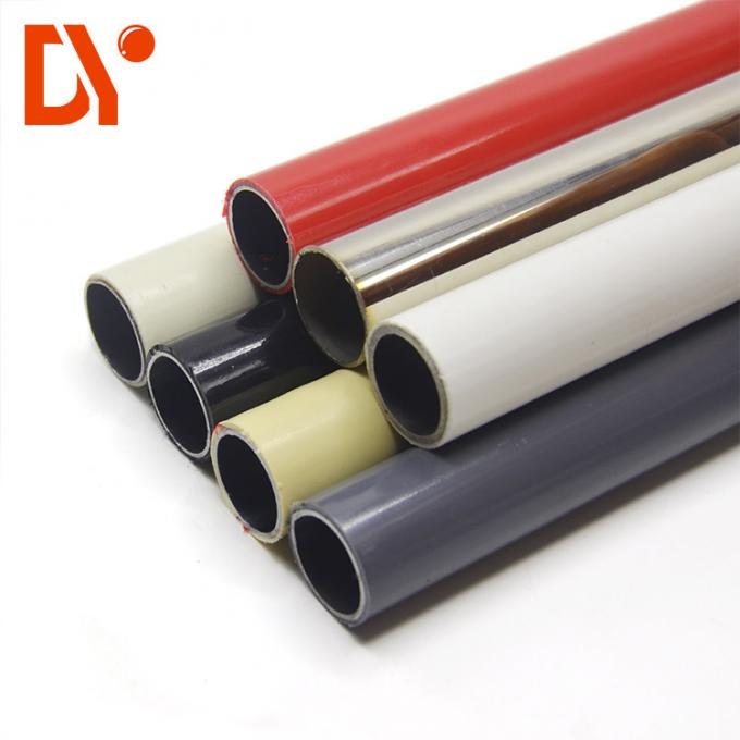 Anti Static Plastic Coated Steel Tube Round Shape Stable Structure For Assembly Line