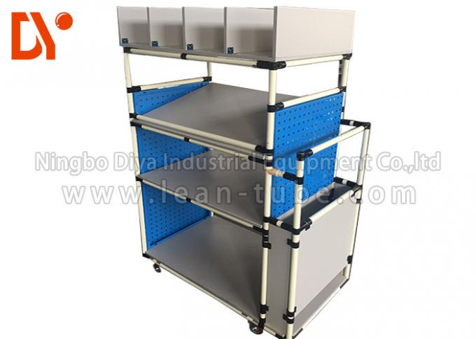 FIFO Lean Pipe Racking System Anti Corrosion Cold Welded Lightweight